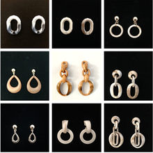 Exaggerated 2019 Geometric Big Hollow DropEarrings for Women Summer oval Earrings Brown Tortoiseshell Earrings Party Jewelry(China)