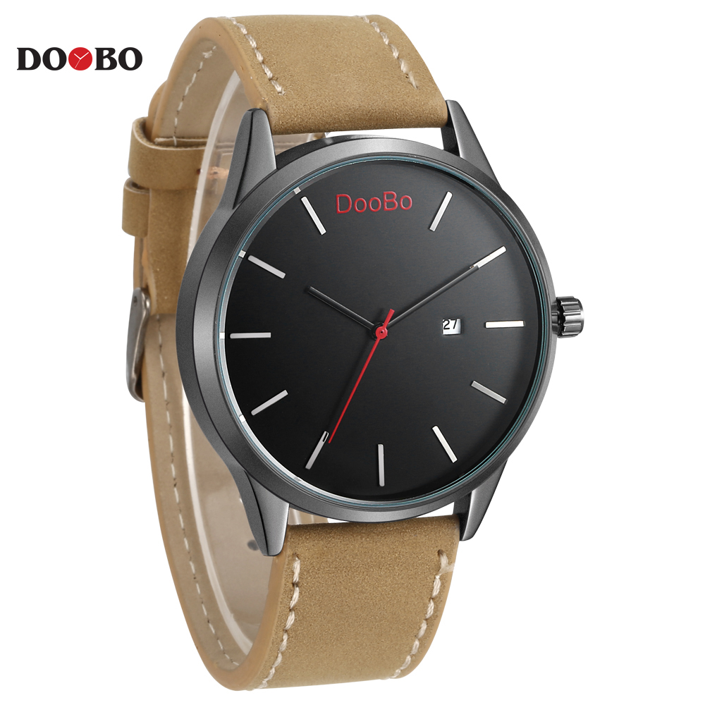 Fashion Casual Mens Watches Top Brand Luxury Simple Leather Business Quartz Watch Men Wristwatch Relogio Masculino DOOBO D004 reloj hombre top brand luxury simple fashion casual business watches men date waterproof automatic mens watch relogio masculino