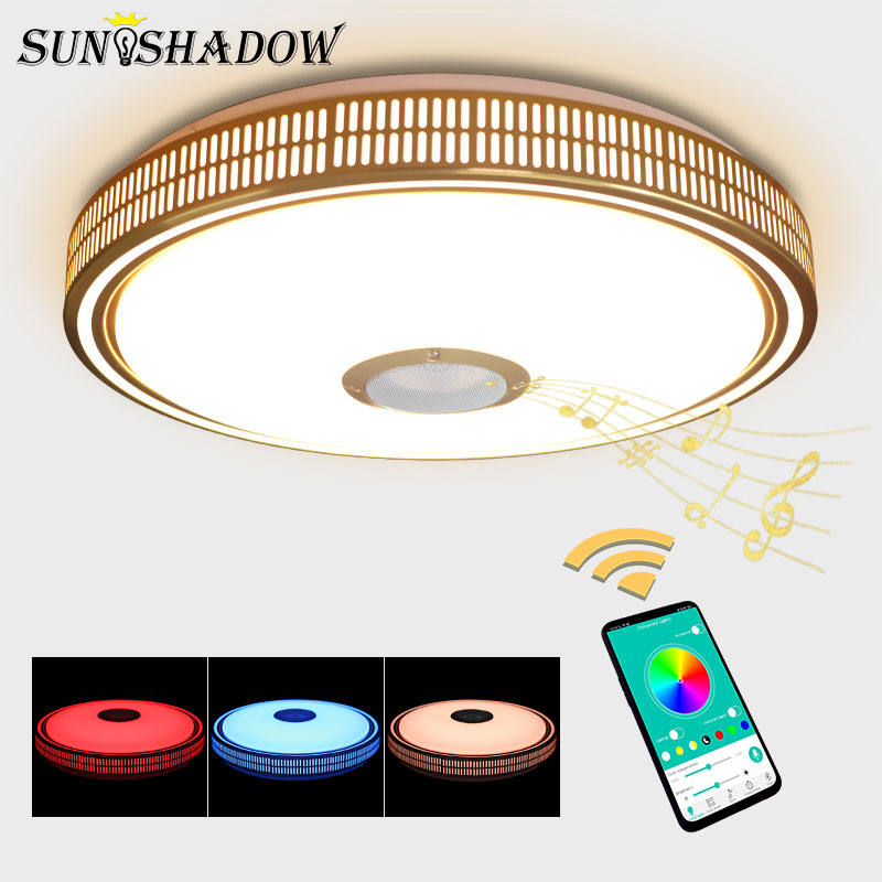 Smartphone APP Control Modern Led Chandelier Acrylic Lampshade Ceiling Mounted Chandelier Lighting Luminaires Livng room Bedroom in Chandeliers from Lights Lighting