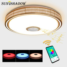 Smartphone APP Control Modern Led Chandelier Acrylic Lampshade Ceiling Mounted Lighting Luminaires Livng room Bedroom