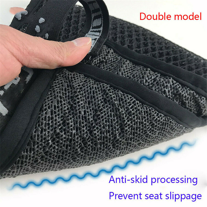 1 Pc Motorcycle Cool Seat Cover Mesh Cushion Heat Sunscreen Pad Accessories Seat 3D Mesh Fabric(China)