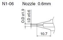 N1-13 N1-06 N1-08 N1-10 saug düse 1,3mm 0,8mm 0,6mm 1,0mm für FM-2024 löten saug pistole spezielle