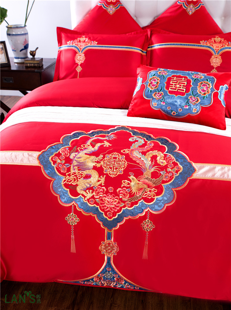 Bettwäsche Drache Kokosnuss 2018 Exquisite Chinesische Rote 4 Stücke Bettwäsche Sets 100% Baumwolle Gold Drachen Stickerei Bettbezug Bettlaken Kissenbezüge Königin König Größe|4pcs Bedding Set|king Sizebedding Set - Aliexpress