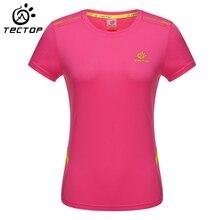 TECTOP Women Quick-Dry T-Shirt Women Camping Climbing Trekking Hiking Outdoor Sports T-Shirt Women Fast Dry Anti-UV T-Shirt
