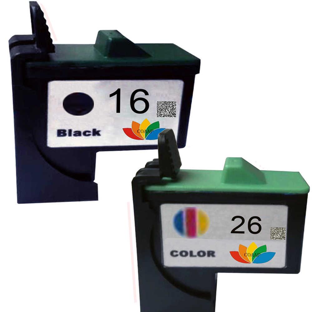 2pk kompatibel lexmark 16 26 tintenpatrone zu lexmark i3 z13 Z23 Z25 Z35 Z515 Z517 Z615 X75 X1100 X1150 X1270 X2250 drucker