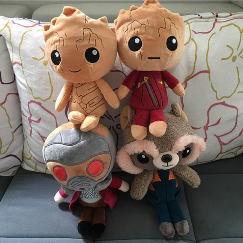 Marvel Movie Guardians of the Galaxy 2 2017 New Plush Toys 6 22cm Dancing Baby Tree Man Raccoon Soft Plush Doll Children Gifts
