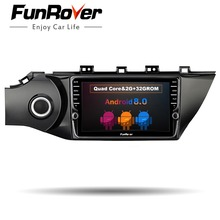 Funrover 2G + 32G Quad core android 8.0 auto lettore dvd multimediale di navigazione gps per Kia k2 2017 car stereo radio video auido wifi
