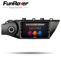Funrover 2G+32G Quad core android 8.0 car dvd player multimedia gps navigation for Kia k2 2017 car stereo radio video auido wifi