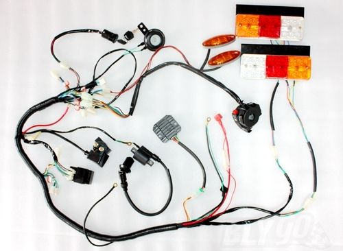 online get cheap atv wiring harness com alibaba group electric start engine wiring harness loom light 1