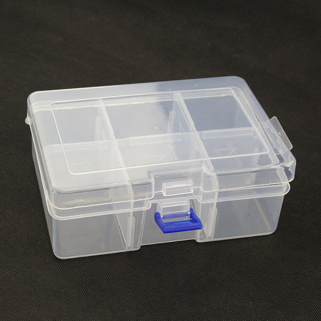 6grid Storage Box Case Holder Container for Pills Jewelry Nail Art