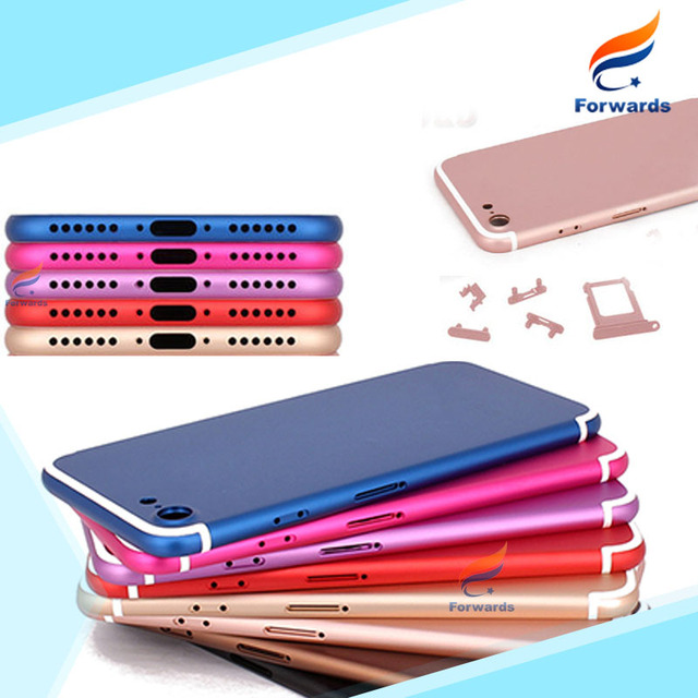 Replacement Part for iPhone 7 7G Housing Metal Alloy Back Rear Cover with SIM Card Tray&Buttons Battery Door 1 pcs free shipping