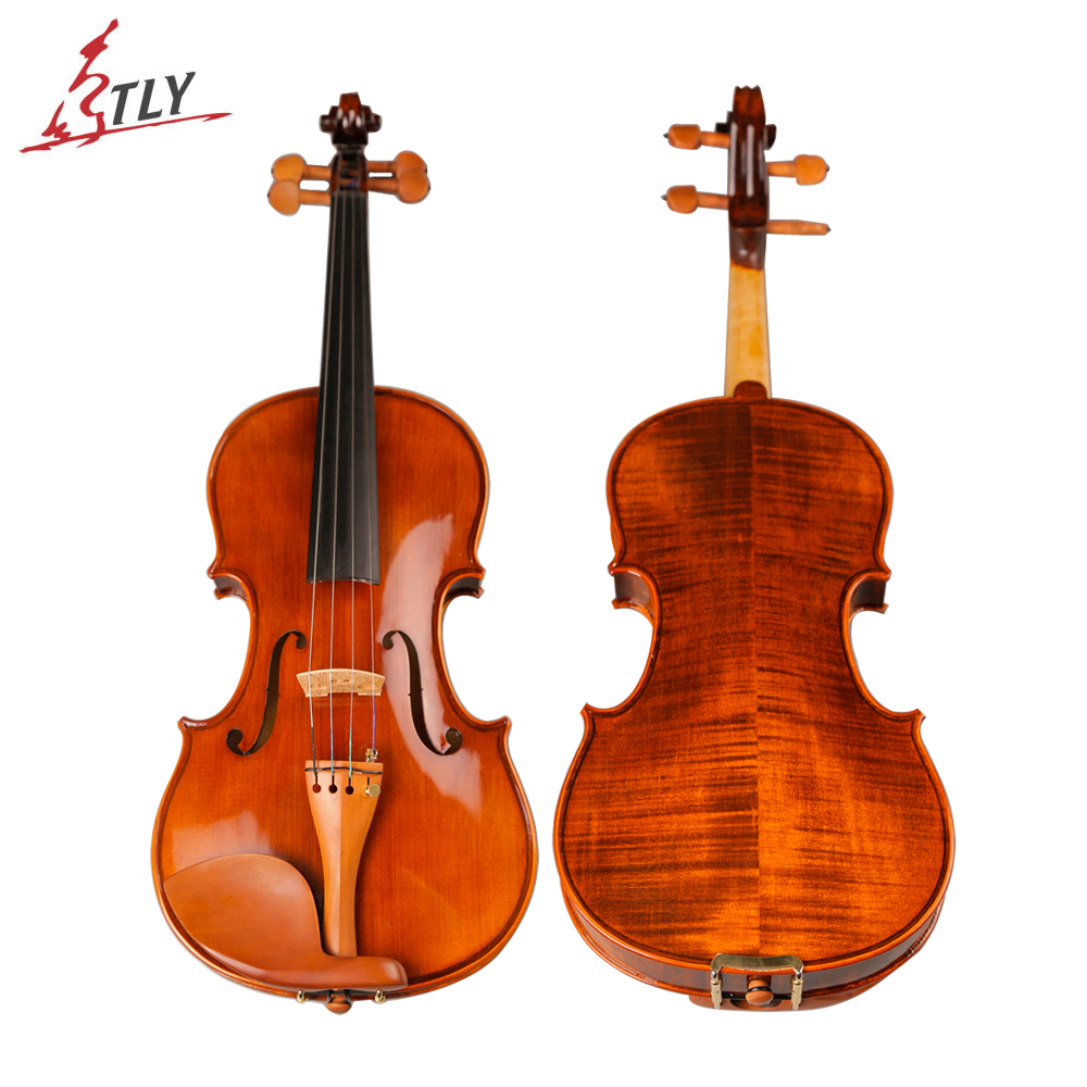 TONGLING Brand Handmade Antique Violin Natural Stripes Maple Hand-craft Oil Varnishing Violino Jujube Fitted brand new handmade colorful electric acoustic violin violino 4 4 violin bow case perfect sound
