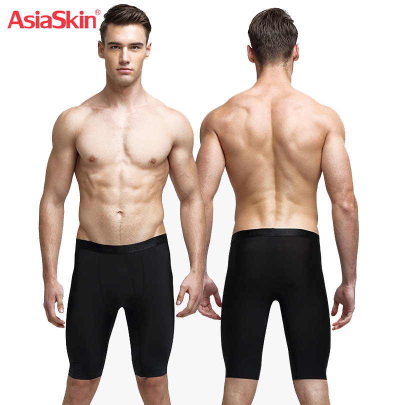 Ultra thin Ice Silk Boxer Men Underwear Seamless Long Boxer Sexy Mens Underwears Breathable Soft Underwear for Men Boxershorts