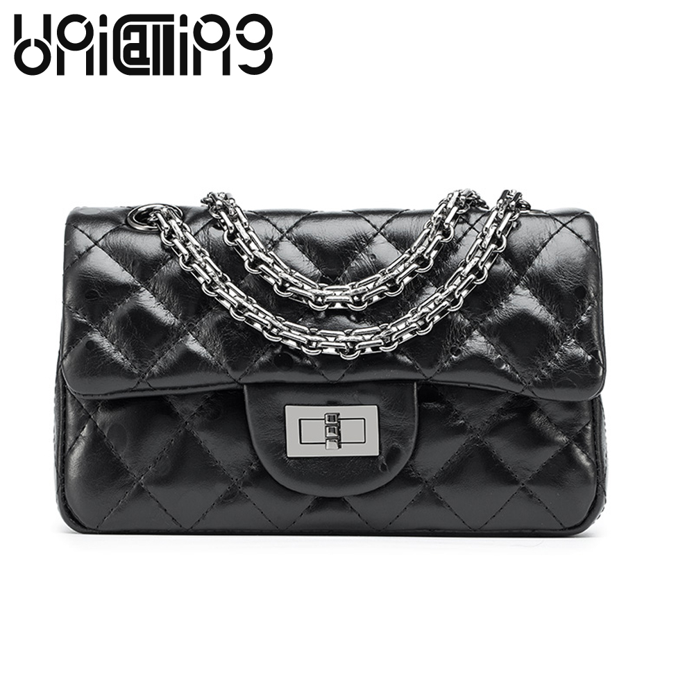 New Fashion women bag sheepskin raindrop Diamond lattice Chain Bag small shoulder bags genuine leather women messenger bags