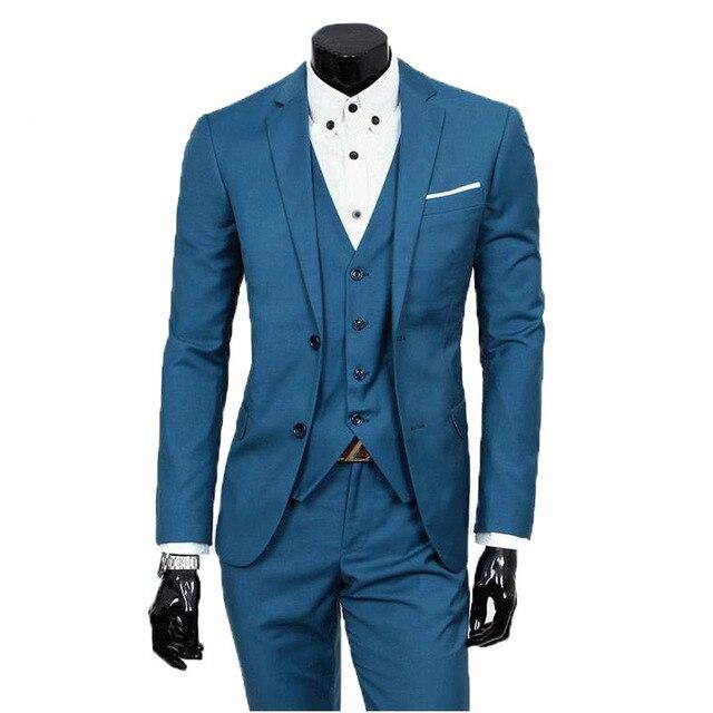 2016 new arrival terno masculino, Business casual suits men, suits jacket+pants, Formal wedding dress Slim Blazer blaser 185