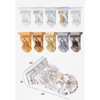 European 26*18.6*8cm Plastic Corbel Corbels Architectural Furniture Decoration Gold Silver Antique Hand Painting