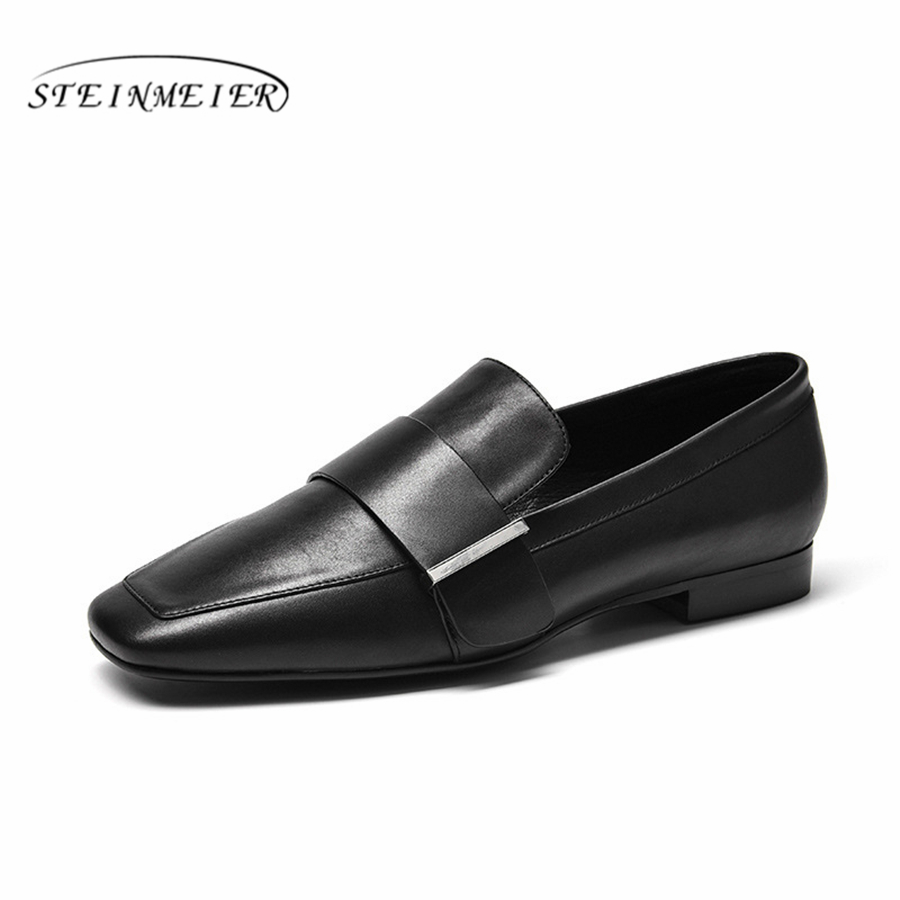 Genuine Leather Women Flats Oxford Shoes Woman Sneakers lady brogues Vintage Casual shoes for Women Footwear 2019 black springGenuine Leather Women Flats Oxford Shoes Woman Sneakers lady brogues Vintage Casual shoes for Women Footwear 2019 black spring