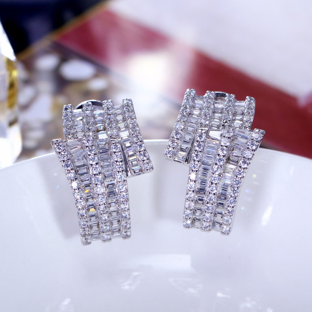 Special Offer Women Wedding Earings Sweet Look Stud Earrings Lead Free Setting with Cubic Zirconia Free Shipping