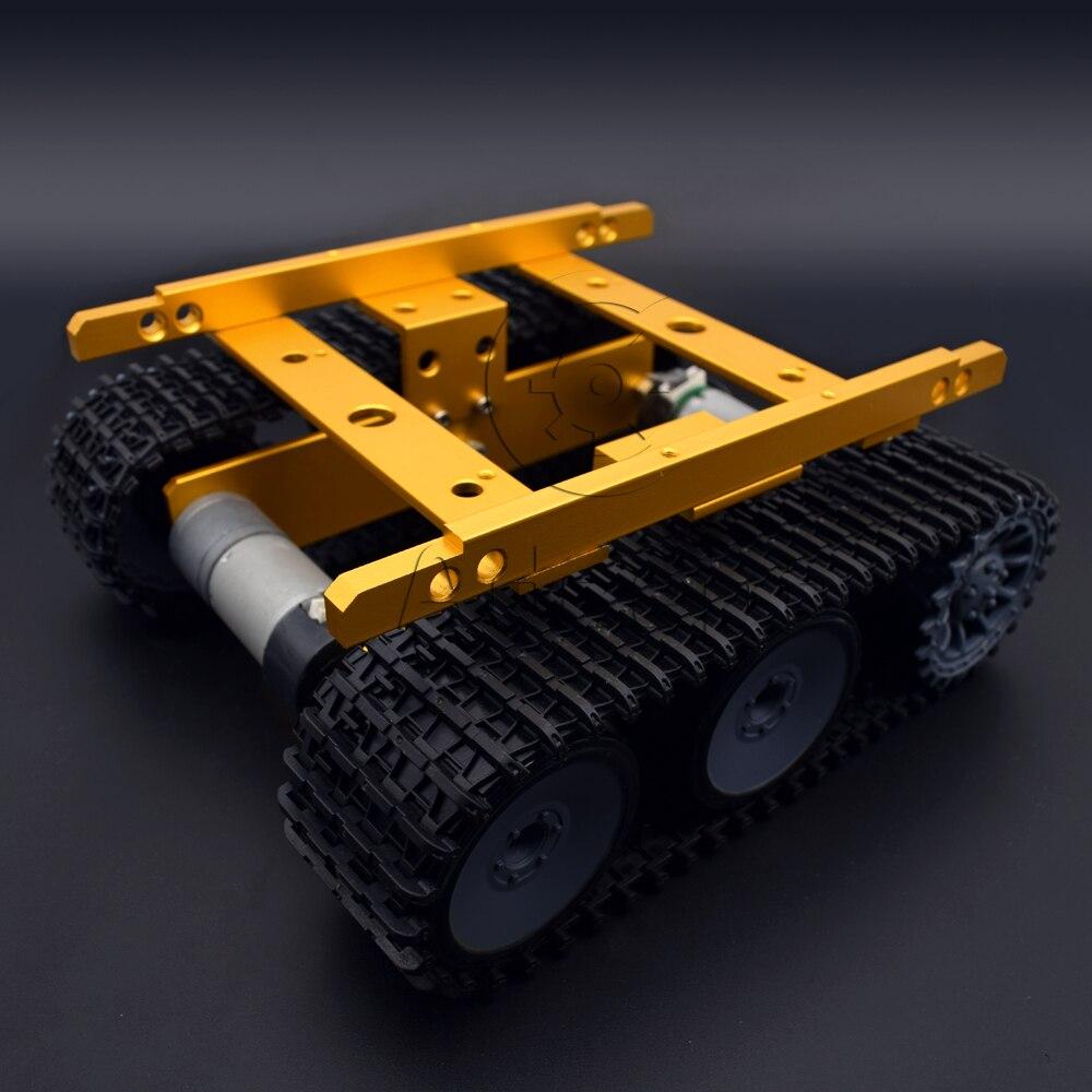 Adeept nouveau bricolage Intelligent réservoir châssis Intelligent en aluminium Robot voiture pour Arduino framboise Pi livraison gratuite casque bricolage bricolage kit - 3