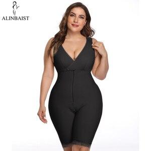 Image 1 - Moldeador de cuerpo firme para mujer, entrenador de cintura vientre, Control del Overbust, bodys adelgazantes, ropa interior, Body, corsé, bragas con cremallera