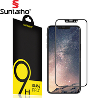 Suntaiho 4D Full Curved Tempered Glass For IPhone 8 Screen Protector Protective Film 9H Electroplated Curved
