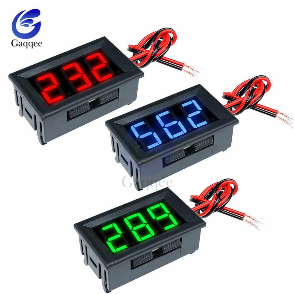 Digital Voltmeter 0.56'' DC 4.5V to 30V Voltage Panel Meter 6V 12V for Electromobile Motorcycle Car DC 4.5-30V Red/Blue/Green