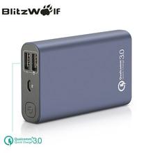 BlitzWolf BW-P3 D'origine Universel 10000 mAh 18 W QC3.0 Rapide Téléphone Chargeur 3.0 Double Port USB Power Bank Batterie Externe