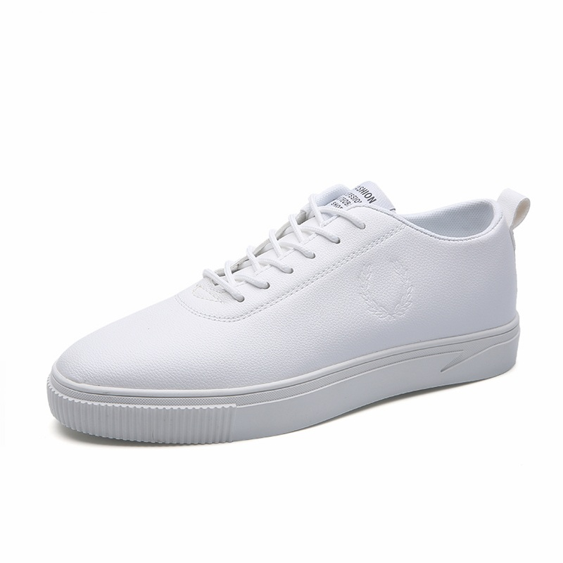 Trend Of Men Shoes Skateboarding Flat Male Leather Men Shoes Comfortable Korean White Sh ...