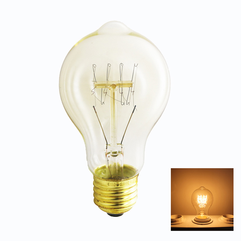 Light bulb vintage a19 retro edison lamp e27 incandescent bulb 220v flame lights outdoor lighting lampadina christmas Dimmable