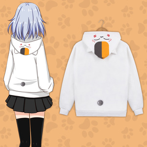Image 5 - Cotone Ammina Neko Atsume Yuujinchou Nyanko Sensei Con Cappuccio Felpa Con Cappuccio del Cappotto del Rivestimento Costumi Cosplay Per La Donna