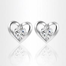 2016 Recommendation Wholesale New Fashion Gold Plated with CZ Zircon Heart Stud Valentine's Day Gift For Women Girl XY-E1030