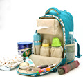 Multifunctional Fashion Mummy Shoulder Bag Waterproof Diaper Bag Stroller Baby Bag Large Capacity Diaper Backpack