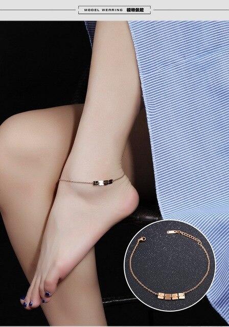 Женские браслеты на ногу с замком и надписью Лидер продаж love