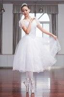 2016 New Professional Ballet Swan Lake Tutu Veil Costume Adult Ballet Skirt Puff White Classic Ballet