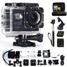 Действий Камеры gopro hero 4 стиль Водонепроницаемый 30 м wifi 170 градусов 1080 P 30fps Открытый Виды Спорта видео Камеры