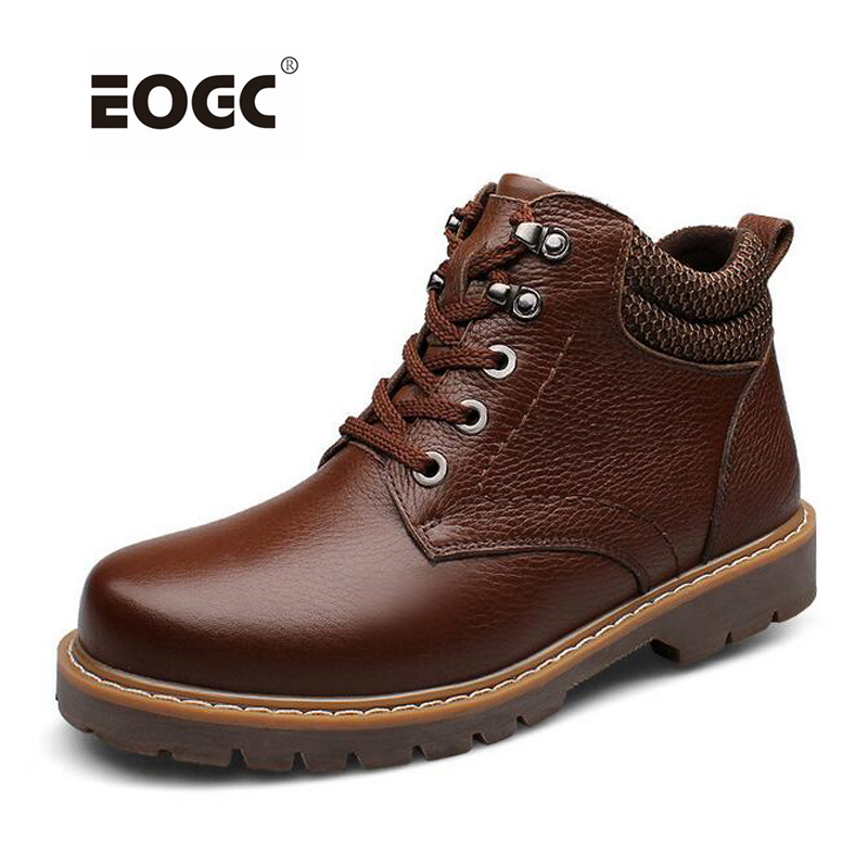 Fashion super warm genuine Leather men boots plus size winter shoes,comfortable ankle boots Handmade men winter snow boots 2016 fashion warm genuine leather boots comfortable men winter boots quality ankle boots men winter shoes brand men s boots ok page 1