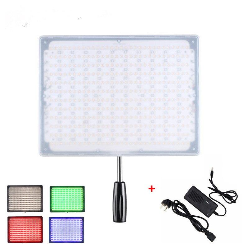 YONGNUO YN600 RGB + Puissance Adaptateur LED Vidéo Panneau Lumineux 5500 K et 3200 K-5500 K avec Sans Fil Bluetooth À Distance