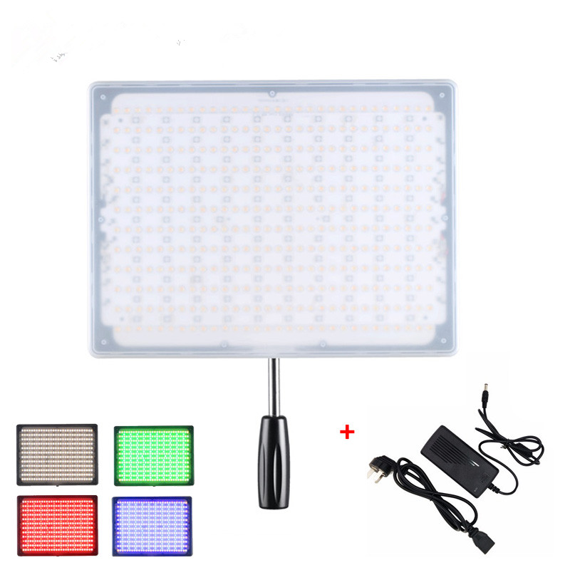 YONGNUO YN600 RGB + Power Adapter LED Video Light Panel 5500K and 3200K-5500K with Wireless Bluetooth Remote