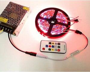 Image 4 - 5m DC12V WS2811 LED Pixel Strip Set indirizzabile digitale 2811 programmabile Full Color Tape IC esterno con Controller Power 2811