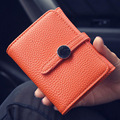 New 2016 Fashion Women Wallet Coin Purse Clutch Bag Short Wallet Women Famous Brands High Quality Solid Women Hasp Wallet