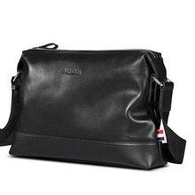 P kuone men leather bag man leather shoulder bag men cowhide messenger bag free shipping