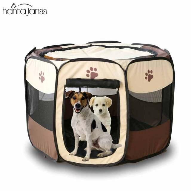 HANTAJANSS Dog Bed Pet Playpen Portable Folding Large Space Tent Waterproof  Exercise Pen Cat Kennels