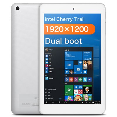 CUBE iWork8 Air Tablet PC  -8.0 inch Windows 10 + Android 5.1 Intel Cherry Trail Z8300 64bit Quad Core 1.44GHz 2GB RAM 32GB ROM