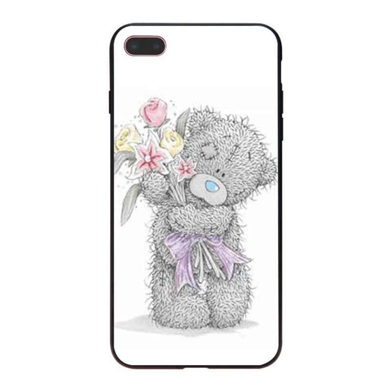 MaiYaCa Mooie teddybeer Klassieke High-end Telefoon Accessoires Case voor iPhone 8 7 6 6S Plus X XS XR XSMax 10 5 5S SE Coque Shell