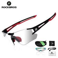 4ecfd46342cd6 ROCKBROS Ciclismo Photochromic Óculos Óculos Esportes óculos de Sol dos  homens de Bicicleta MTB Bicicleta de