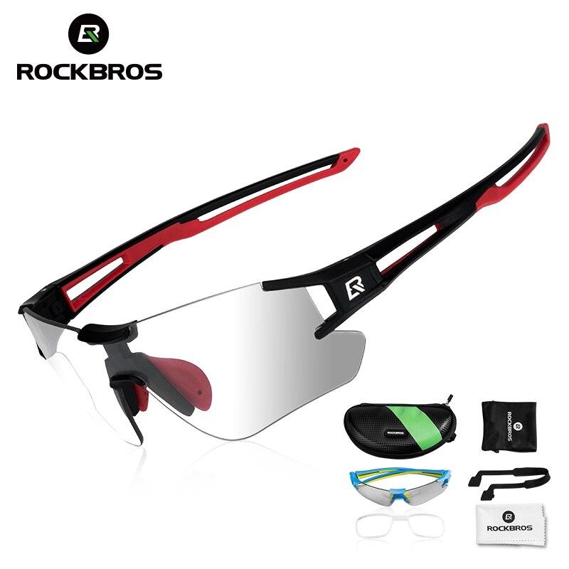 ROCKBROS los fotocromáticos gafas ciclismo bicicleta gafas deportes de hombres gafas de sol MTB bicicleta de carretera gafas de protección 3 colores