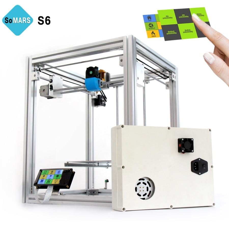 somars 2017 newest s6 full metal structure 3d printer with. Black Bedroom Furniture Sets. Home Design Ideas