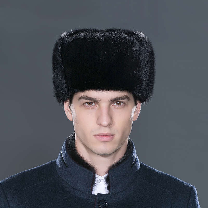 cdd18675353 LTGFUR Bomber Men s Hats Warm Mink Fur Hat Bomber Ushanka Aviator Snow Caps  With Ear Flaps Russian Cap For Men NZD 01-in Bomber Hats from Apparel ...