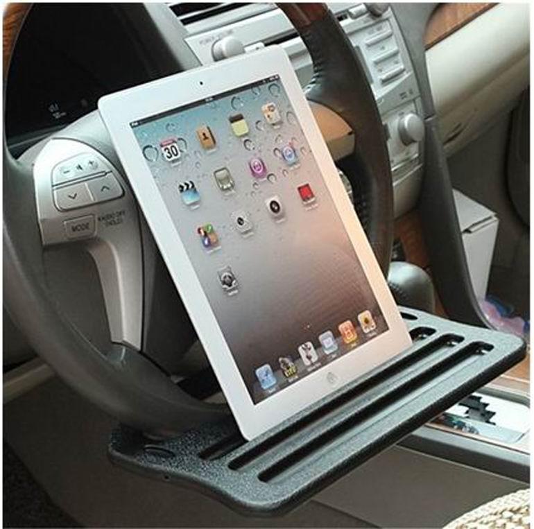 Soporte de color gris / negro soporte del volante del coche Soporte - Accesorios de interior de coche - foto 2