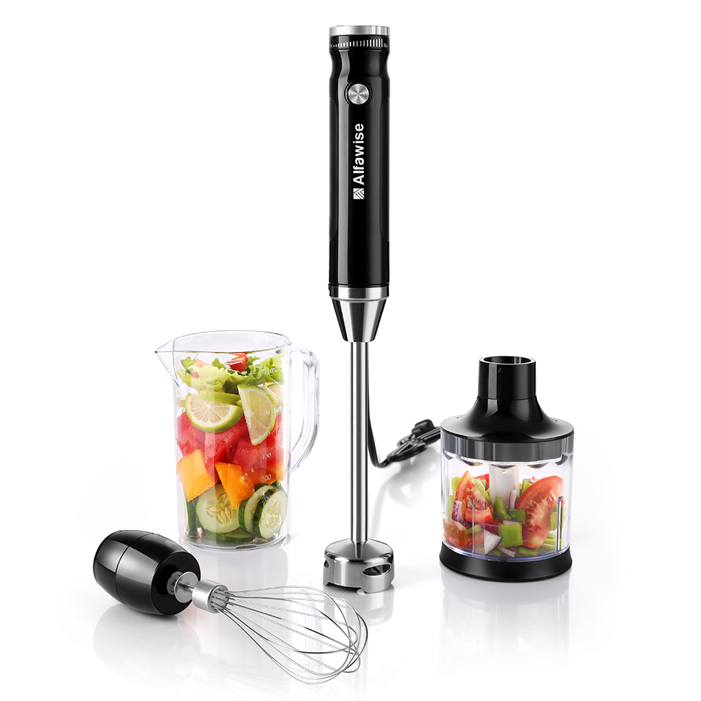 Alfawise 3 in1 800ml Multi-functional Hand Blender Handheld Electric Fruit Juice Extractor Mixer Food Processor Blender HB109 rbm 767a 2200w home automatic multi functional fruit and vegetable ice sand bean milk mixer fried fruit juice broken machine 2l